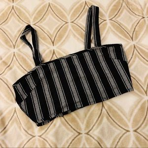 Striped Crop Top - medium